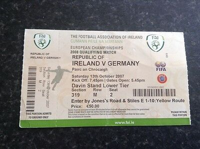 Republic of Ireland v Germany Ticket