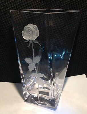 "Mikasa 'Endless Love' Crystal Embossed Frosted Etched Rose Vase, 9 1/2"" High"