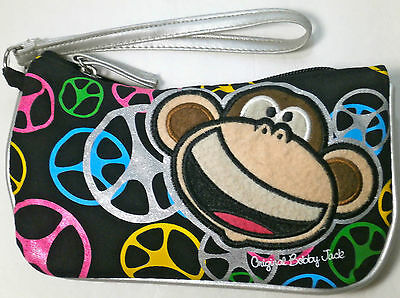 """Coin Purse Bobby Jack Clutch Carry-All Multi-Color Peace Signs 8"""" x 4.5"""""""