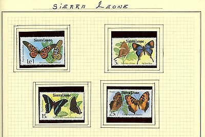 Sierra Leone - Butterflies Stamps - Lot Of 4 - Mnh Og