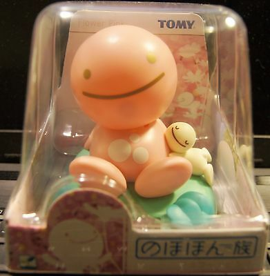 Japan TOMY Nohohon Zoku Solar Bobble Head Figure Sunshine Buddies Flower Pink