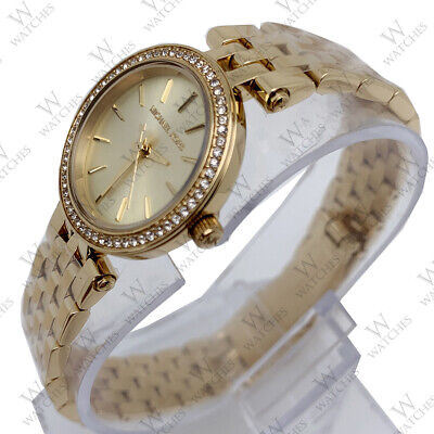 New Michael Kors MK3295 Women's Petite Darci Gold Tone Stainless Steel Watch