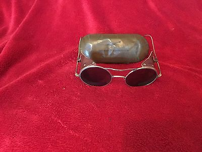 ww2 Raf  1939 battle of britan antigare tinted glasses no 2/3 with tin.