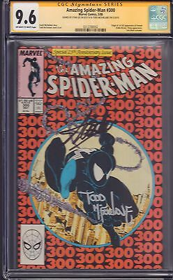 Amazing Spider-Man #300 CGC Signed by Stan Lee and Todd McFarlane! Hot Book!!!
