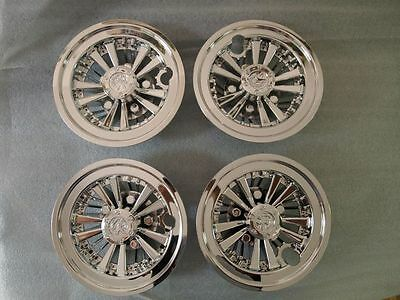 Golf Cart , Buggy , Car Club Car Hub Caps Chrome Look  Sold In Sets  Of 4