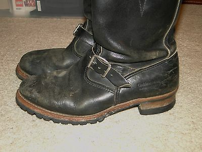 Vintage  Leather Boot Engineer Motorcycle Boot size 9 1/2 E