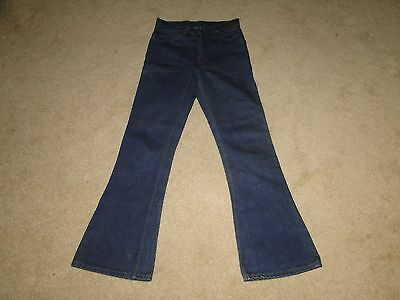 VINTAGE Levis 646  BELL BOTTOM  DENIM JEANS Orange Tab made in USA Sz 29 x31