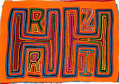 Kuna Yala Molas Original From San Blas Unique 1960/70s Piece of Art Collection
