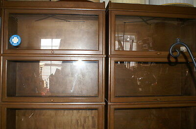 """Vintage Barrister Lawyers Stacking Bookcase 5 Sections Top Bottom 88"""" x 34""""  #1"""