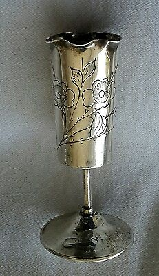 Rare Early 19th c Chinese Export Silver Toothpick Holder - Chinese Hallmark 老寶記