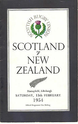 SCOTLAND v NEW ZEALAND 1954 RUGBY PROGRAMME