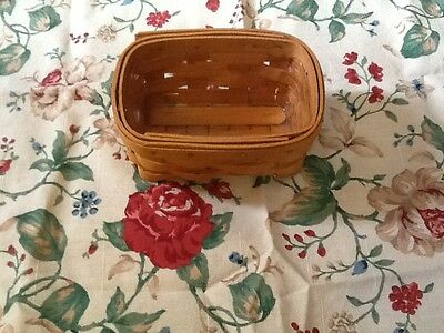 Longaberger business card basket with protector SECOND