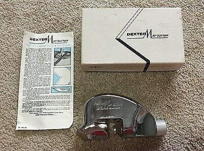 Vintage Dexter Mat Cutter With One Blade Instructions Leather Crafts