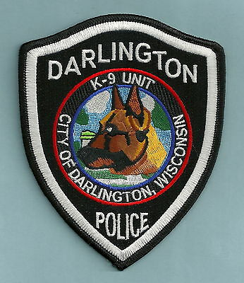 Darlington Wisconsin Police K-9 Unit Patch