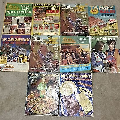 Lot 10 Pcs Vintage Tandy Leather Ideas Craft Working Catalog Instruction Books