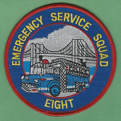 New York City Police Emergency Service Squad 8 Patch North Brooklyn