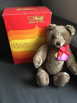 1970's Mohair Steiff Teddy Bear with original box and tags.  GREAT FIND!!