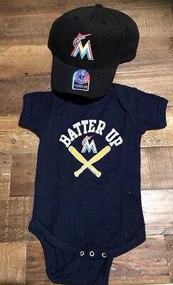 Miami Marlins MLB Toddler Size 6mth Gift Pack