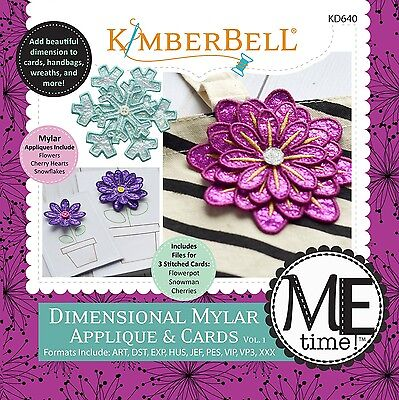 DIMENSIONAL MYLAR APPLIQUE MACHINE EMBROIDERY PATTERN, from Kimberbell, *NEW*