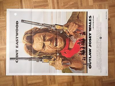 The Outlaw Josey Wales 1976 Movie Poster Original One Sheet (good Condition)