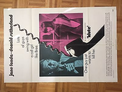 Klute 1971 Movie Poster Original One Sheet(good Condition)