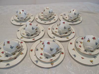 24pc Royal Victoria Rose Pansy LUNCHEON SET  8 Cups Saucers & Plates England