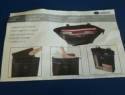 Retired Creative Memories Scrapbooking Project Tote Shoulder Bag 12x16.5 NWT NEW