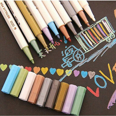 Plastic Marker Pens Pigment Set-Dearhouse 10Colors Painting Marker for Tip