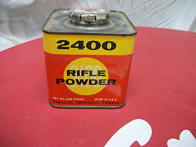 Vintage Hercules 2400 Rifle Powder Tin Can Box