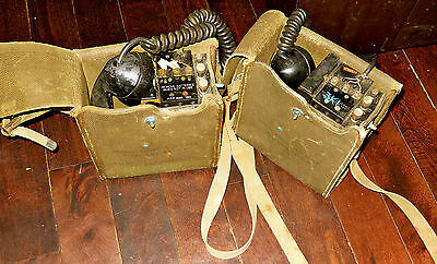 1952 Field Phone, EE8, pair, Army, Korean War, Canadian