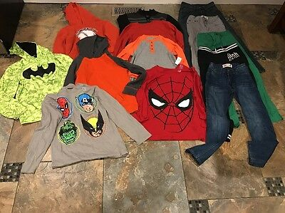 Huge Lot Of Boys Clothes(Levi's, Hoodies, Some Nwt)-size 10