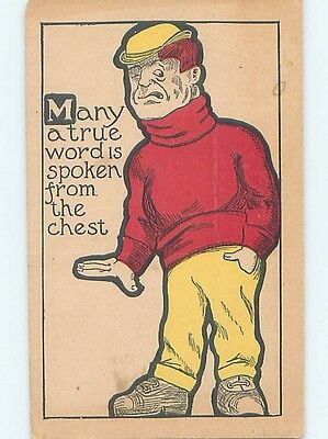 Pre-Linen comic MAN SAYS TRUE WORD IS SPOKEN FROM THE CHEST HL2856