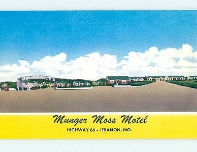 Unused Pre-1980 MOTEL SCENE Lebanon Missouri MO hk0525-15