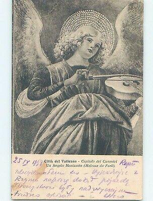 Damaged Back 1957 foreign religious BEAUTIFUL ANGEL PLAYS VIOLIN MUSIC HL9643