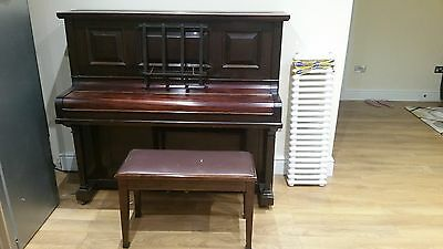 oxford piano murdoch mahangony,  good condition and tuned