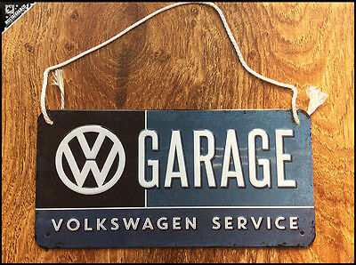 VOLKSWAGEN - VW Garage Service Embossed Vintage Tin Sign Novelty item BUS VAN