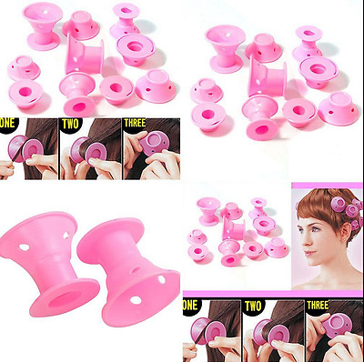 10 Pcs Soft Hair DIY Roll Style Roller Hair Curler Styling Care Tool Set Great