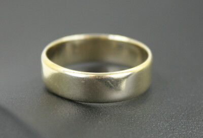 Men's 9K Solid Yellow Gold H6 Band Size T Ring 3.5 Grams