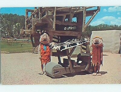 1968 Tourist Attraction FLINTSTONES BEDROCK CITY Custer South Dakota SD hn6205