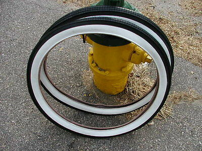 Columbia White Wall balloon Tires 26X2.125 brick tread SCHWINN WITH TUBES