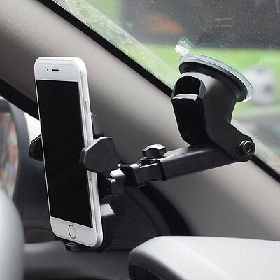 Universal 360 rotation long neck windshield cell phone mobile car mount holder