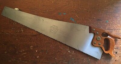 Vintage Henry Disston D-8 Hand Saw 5 1/2 TPI Great Condition