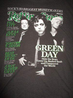 Rolling Stone GREEN DAY (Girl's LG) Shirt BILLY JOE ARMSTRONG