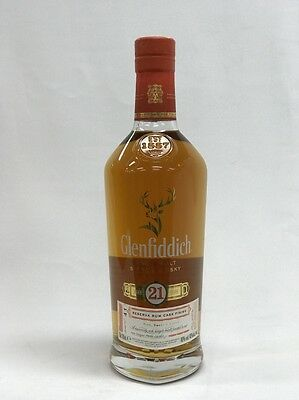 Glenfiddich 21 Years Old Reserva Rum Cask Finish Single Malt Scotch 700Ml Boxed
