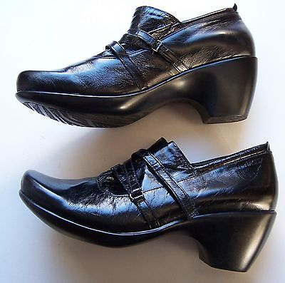 Naot Court Shoes Black Leather Women Size 41 As New