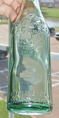 "Rare Original Straight Side  Aqua Coca Cola Bottle  ""  Tampa, Florida ""  Nice  """