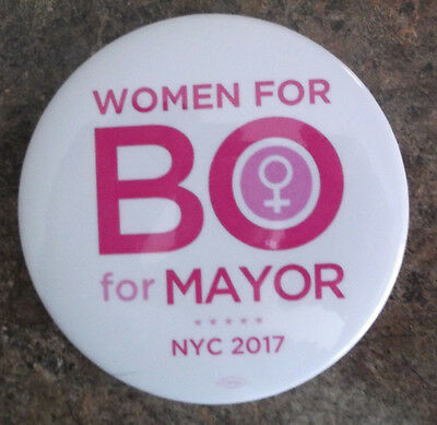 2017 Independent NEW YORK CITY Bo DIETL for Mayor WOMEN logo button