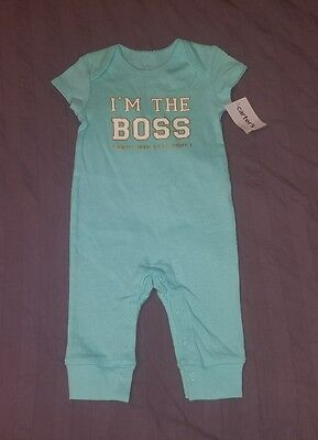 NWT Carters Baby Girl Clothes 3 Months One Piece Short Sleeve Pants Romper
