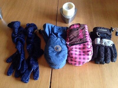 Four Pairs Of Kids Gloves/Mittens