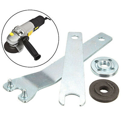 Silver Grinder Wrench Spanner 5/8-11 Flange Lock Nut Metal For Milwaukee Makita